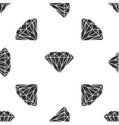 diamond icon seamless pattern on white background vector image