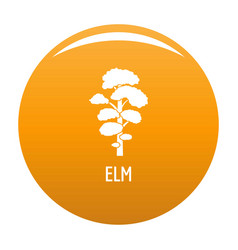 Elm tree icon orange vector