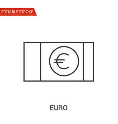 euro icon thin line vector image