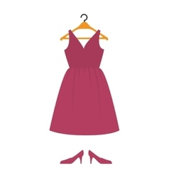female clothes hanging in hook vector image