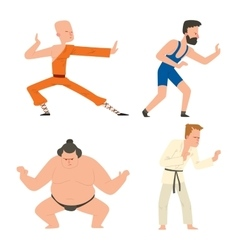 Fighters people set vector image