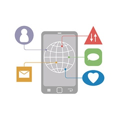 Flat Mobile Infographic of communication icons on vector image