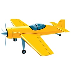 Flying sport airplane vector image
