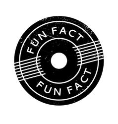 Fun Fact rubber stamp vector