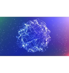 Futuristic abstract glowing vector
