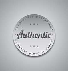 Genuine label vector