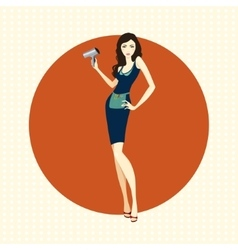 Girl hairdresser with dryer vector