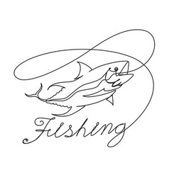 graphic fishing vector image