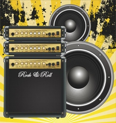 Guitar bass amp vector