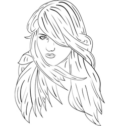 Haired women 3 vector