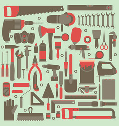 Hand tools icon set flat design eps10 format vector
