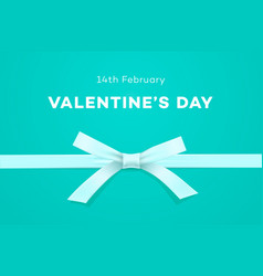happy valentines day symbol of love gift on sweet vector image