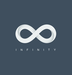 infinity symbol infinite logo mobius loop vector image