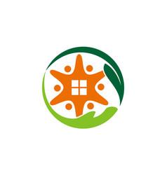 insightful living logo design template vector image