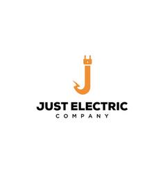 j electric logo vector image