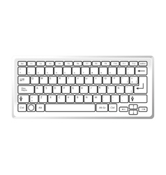 keyboard device computer icon vector image