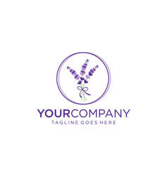 Lavender flowers for logo design concept vector