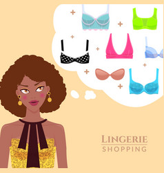 lingerie and shopping vector image