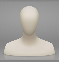 Mannequin bust and head vector