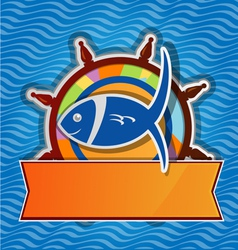 menu restaurant fish vector image
