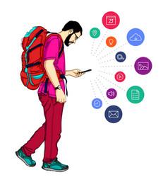 notification in mobile smartphone vector image