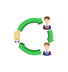 Office team icon cartoon style vector