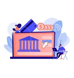 Open banking platform concept vector