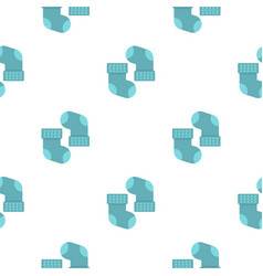 Pair of blue baby socks pattern seamless vector