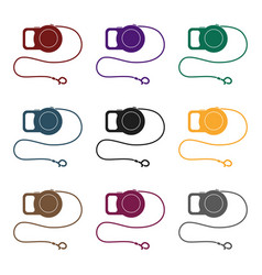 Pet lead icon of for web and vector