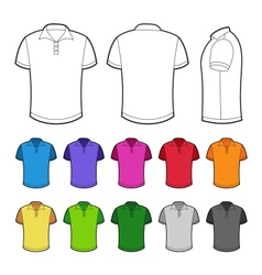 Polo in various colors vector image