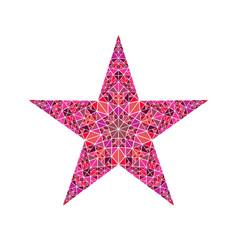 Polygonal abstract colorful tiled mosaic star vector