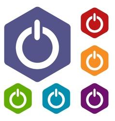 Power rhombus icons vector
