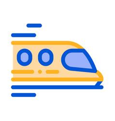 Public transport train thin line sign icon vector