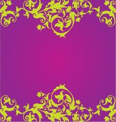 Purple Floaral Design vector