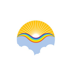 Rainbow logo icon template vector