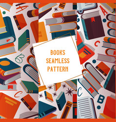reading concept seamless pattern vector image
