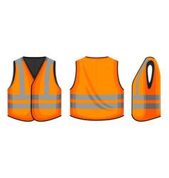 Safety vest on white vector
