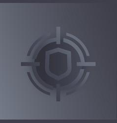 Security breach data protection icon vector