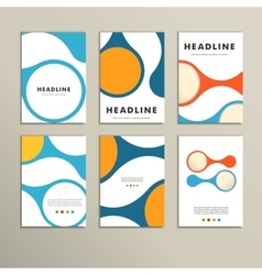 Set covers with abstract figures vector