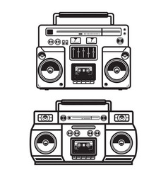 Set of boombox on white background design element vector