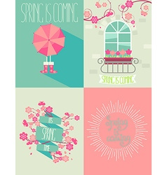 Set of springtime vector