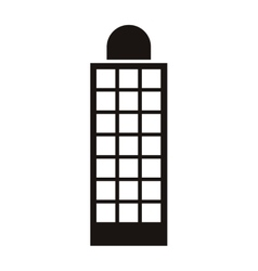 Silhouette monochrome with office building vector