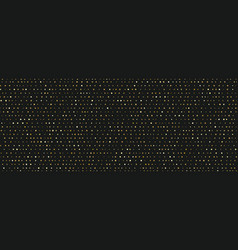 small random dots gold pattern on black background vector image
