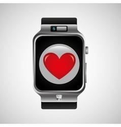Smart watch heart health technology vector