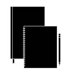spiral notepad diary and pencil template branding vector image