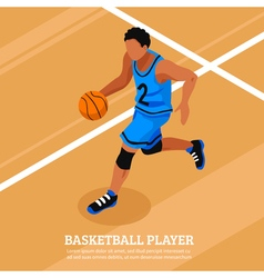 Sport Isometric Template vector image