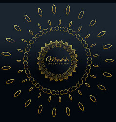 stylish golden mandala decorative design vector image