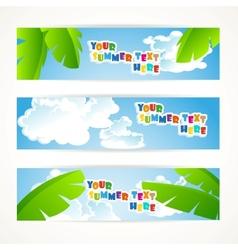 Sunny summer banner vector image