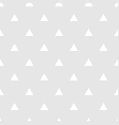 Tile grey and white triangle pattern vector
