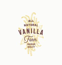vanilla spice farm abstract sign symbol or vector image